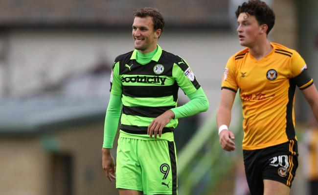 FLASHBACK: Christian Doidge in action for Forest Green Rovers against Newport County in 2017