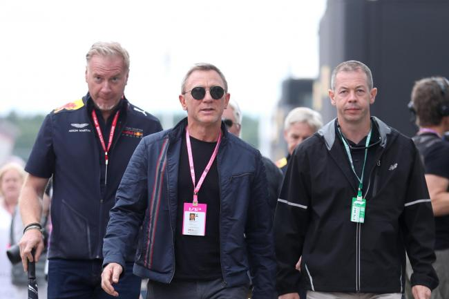 Daniel Craig attending the British Grand Prix at Silverstone