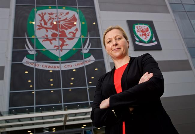 BIG KICK-OFF: Wales manager Jayne Ludlow