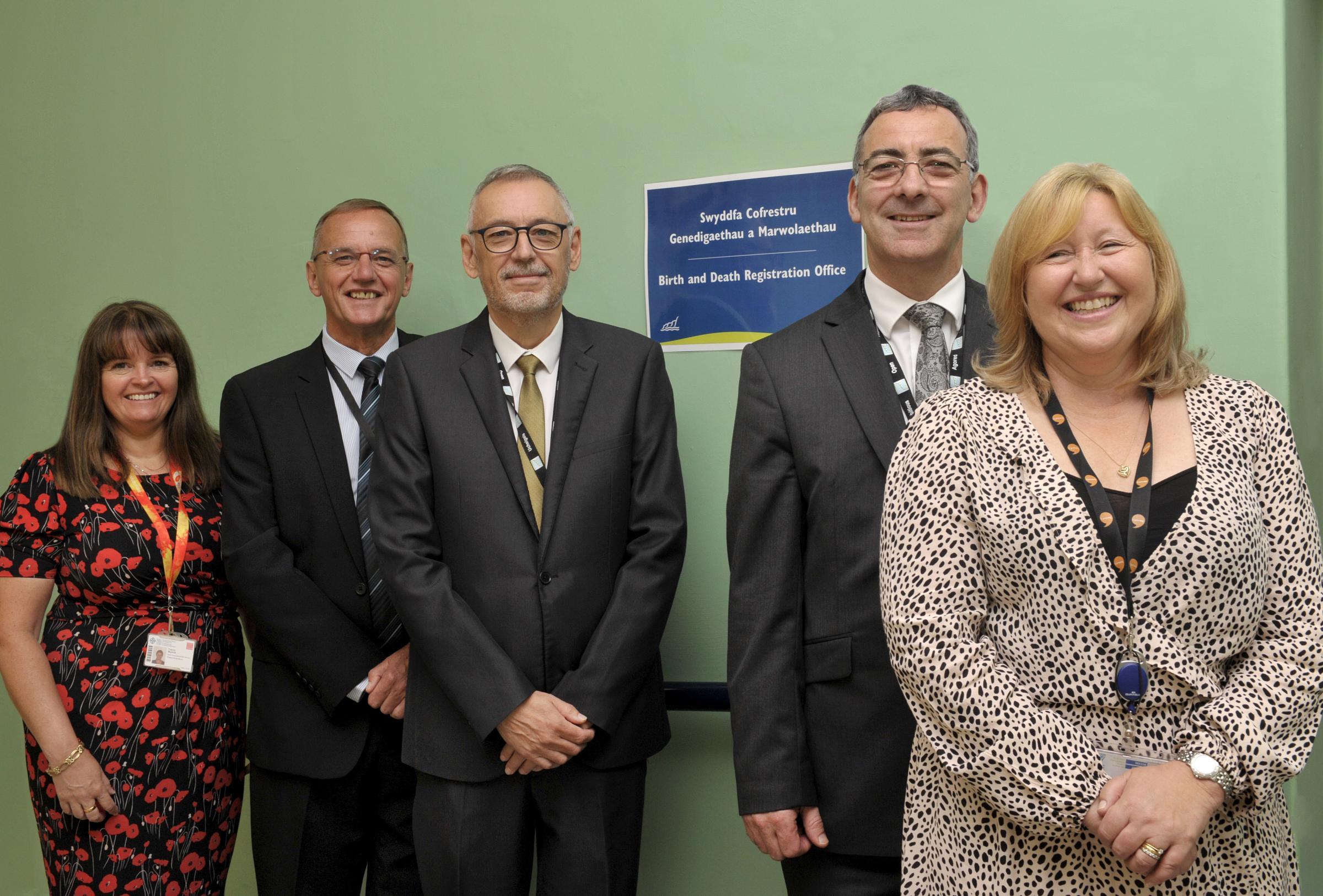 Registration office at University Hospital Llandough now a permanent fixture