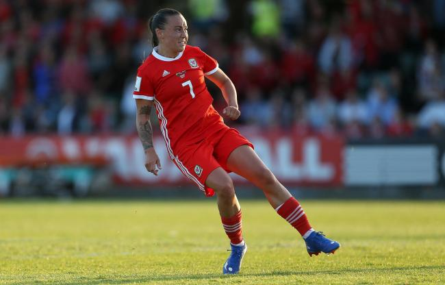 HAT-TRICK: Natasha Harding scored three times as Wales eased past the Faroe Islands