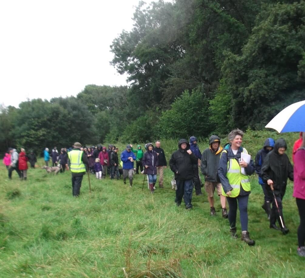 Dinas Powys Protestors march to save ancient wood from dam
