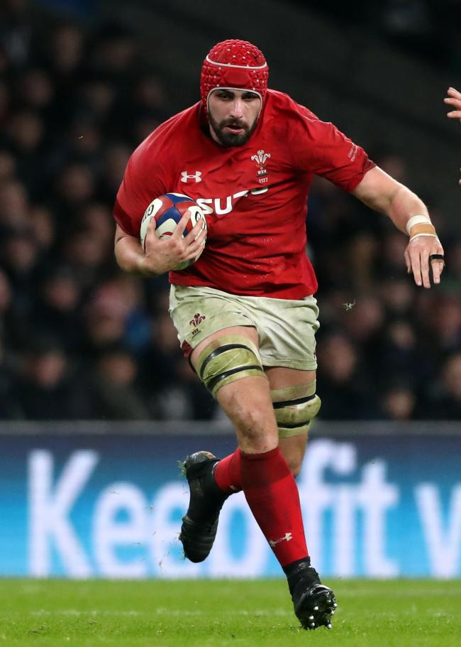 WORLD CUP WOE: Wales have released Cory Hill from their squad because of the Dragons lock's leg injury