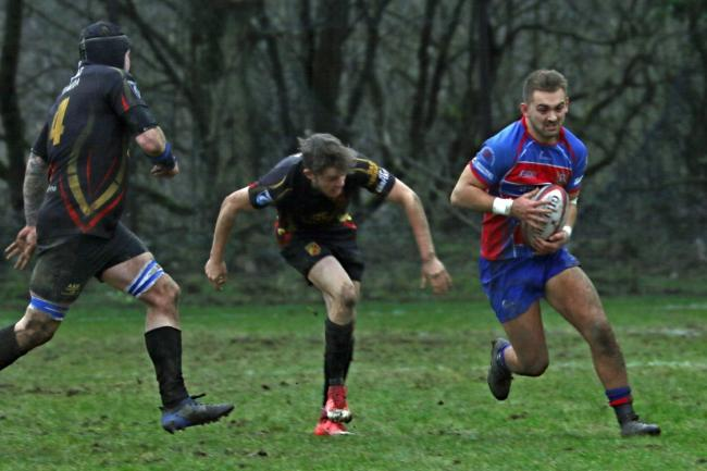 George Roberts was one of Penarth's try-scorers on a murky February afternoon at Penygraig last season. Picture: Alun Roach
