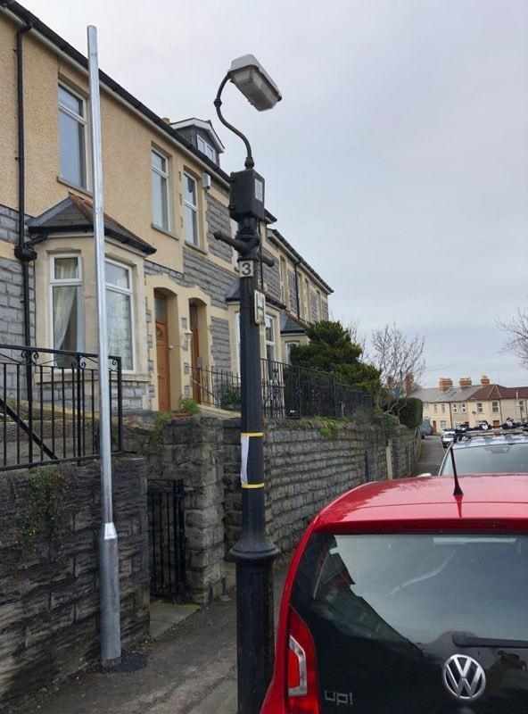 An example of the old Penarth lampposts. Picture: Gemma Crutchley