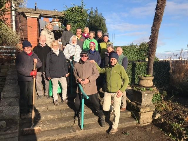 RESTORATION: A group of hardy volunteers have helped restore these gardens.