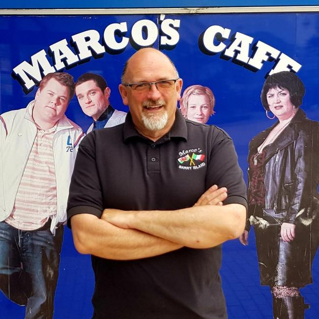 Marco Zeraschi and the Barry Island traders are ready to welcome you to safely enjoy the outdoor space