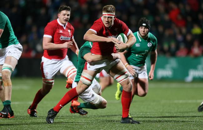 IMPRESSED: Dragons second row Ben Carter has hit the ground running with Wales U20s. Picture courtesy of the Welsh Rugby Union