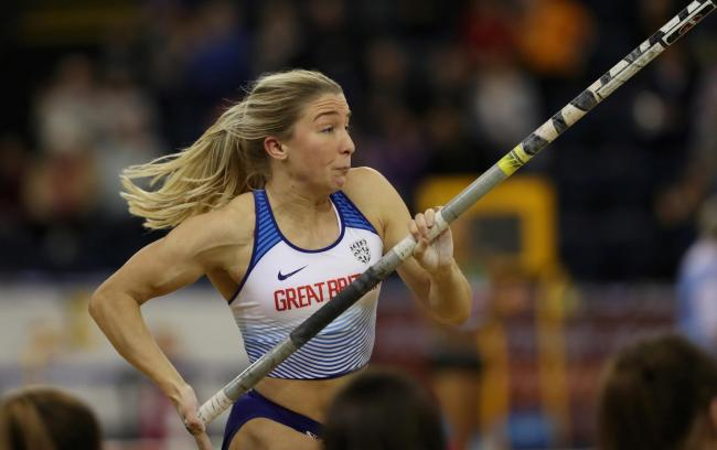 Sophie Cook is the freshly crowned British indoor champion, having jumped a career-best 4.50m in Glasgow © Reuters