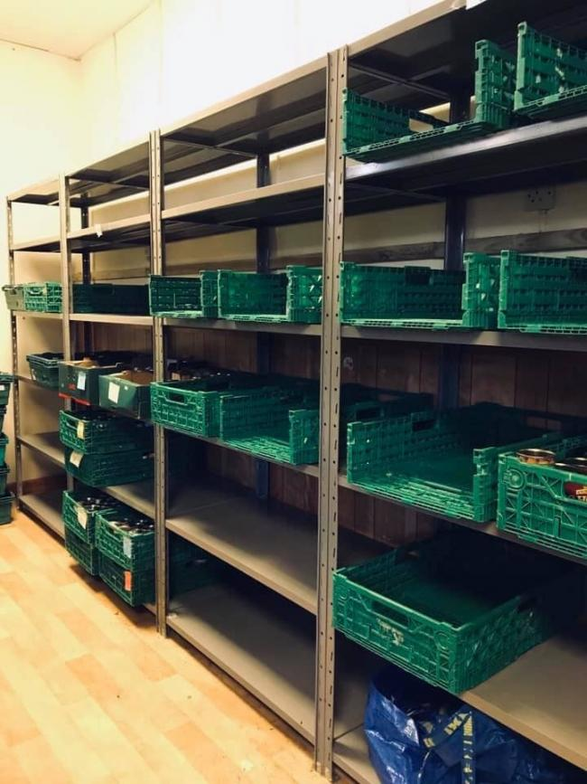 The Vale Foodbank's empty shelves