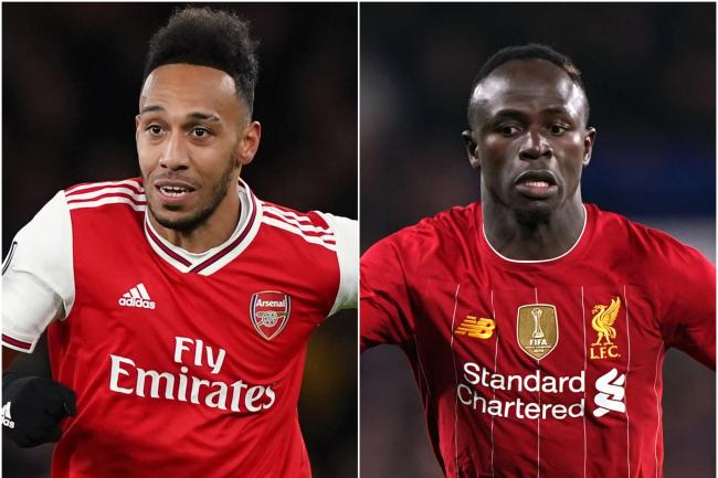 Pierre-Emerick Aubameyang and Sadio Mane