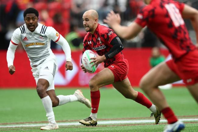 PLAYMAKER: Luke Treharne in action for Wales in the World Rugby Sevens Series (Picture: World Rugby)