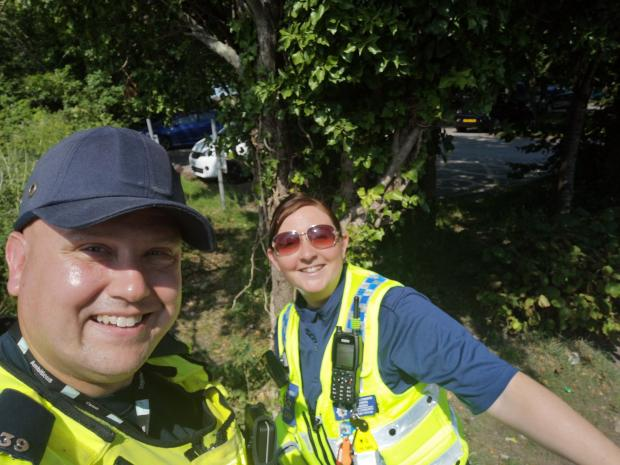 Penarth Times: Members of Vale Council Enforcement at Cosmeston on Thursday