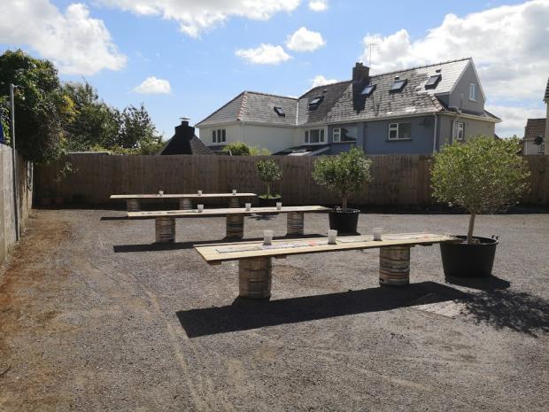 Penarth Times: Mr Janel's new 'beer garden'