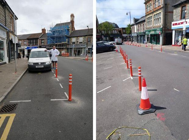 Business owners and residents in Penarth call for bollards to be removed days after council put them there