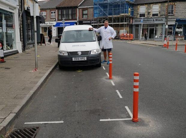 Penarth Times: Marcus Lush said Glebe Street on Saturday was very quiet. He says he would usually have queues around the corner.