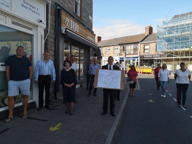Some business owners gathered on Glebe Street on Tuesday to share their concerns over the ideas.