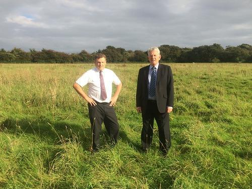 Penarth Times: Sully councillors Kevin Mahoney and Bob Penrose are fighting to prevent the development alongside campaign group Keep Cosmeston Green