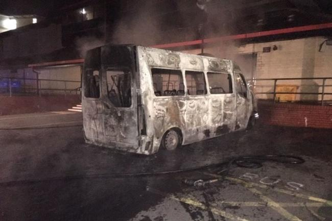 The burnt-out bus