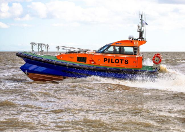 The Kingfisher pilot vessel, in Lowestoft, is a similar design