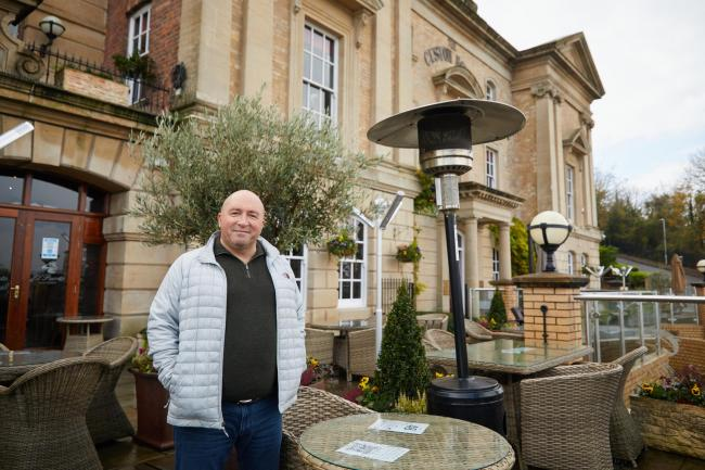 Mark Faulknall outside The Old Custom House