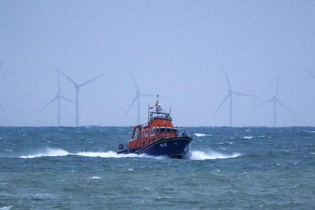 An RNLI lifeboat was part of the search
