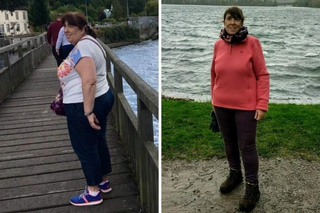 Ann Brown before and after (Picture: Slimming World)