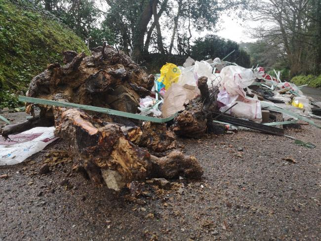 'Infuriating': Fly-tipped rubble that blocked homes yet to be moved a week later