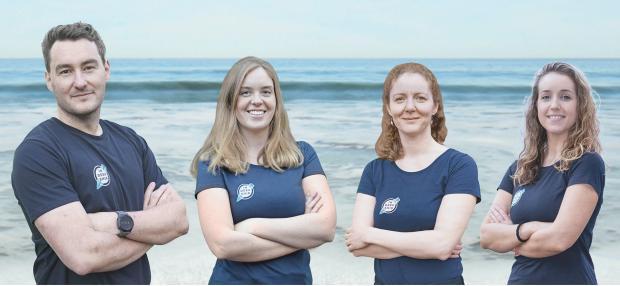Penarth Times: Jessica (far right) and the team.