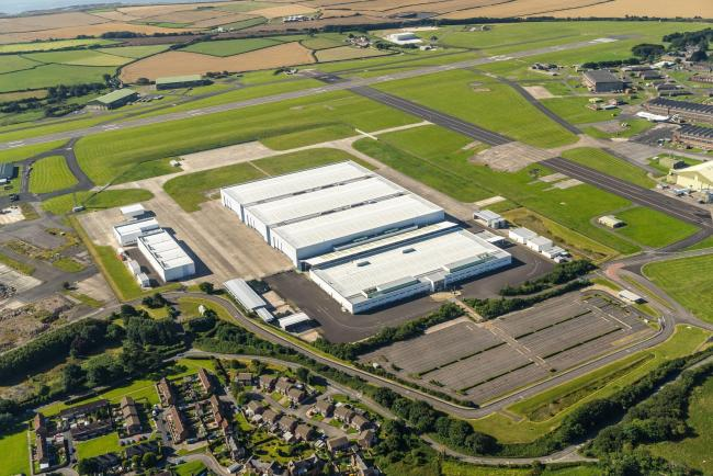 Undated Welsh Government handout photo of the site in St Athan in the Vale of Glamorgan, where there will be a new Aston Martin factory, creating more than 750 jobs. PRESS ASSOCIATION Photo. Issue date: Wednesday February 24, 2016. The luxury marque will