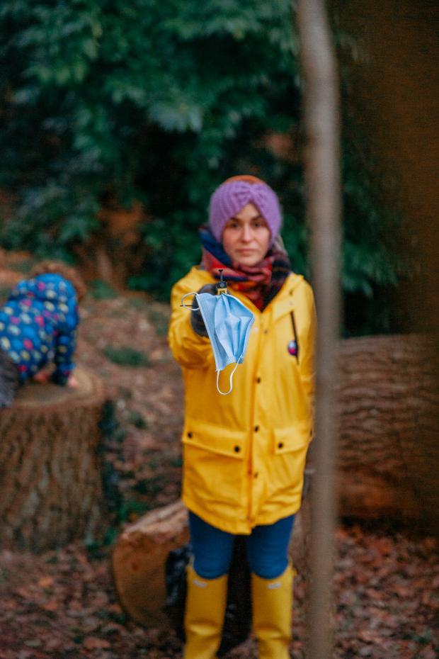 Penarth Times: Naomi Burke on a litter pick