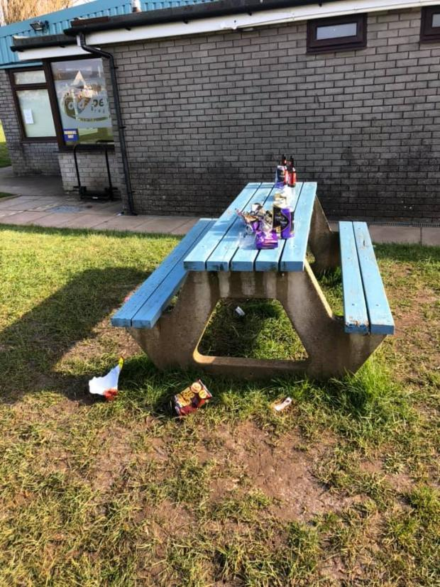 Penarth Times: Some of the rubbish found while on a litter pick in the area