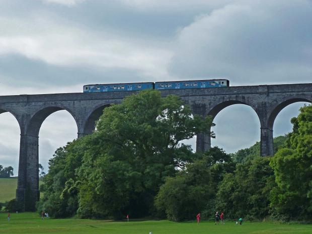 Penarth Times: SCENIC: Train going over Porthkerry viaduct. Picture: Liz Richards