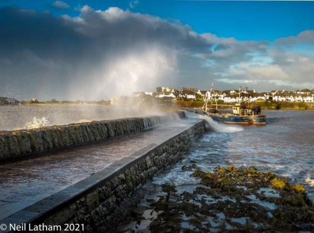 Penarth Times: PICTURESQUE: Breaking waves and mooring at Old Harbour. Picture: Neil Latham