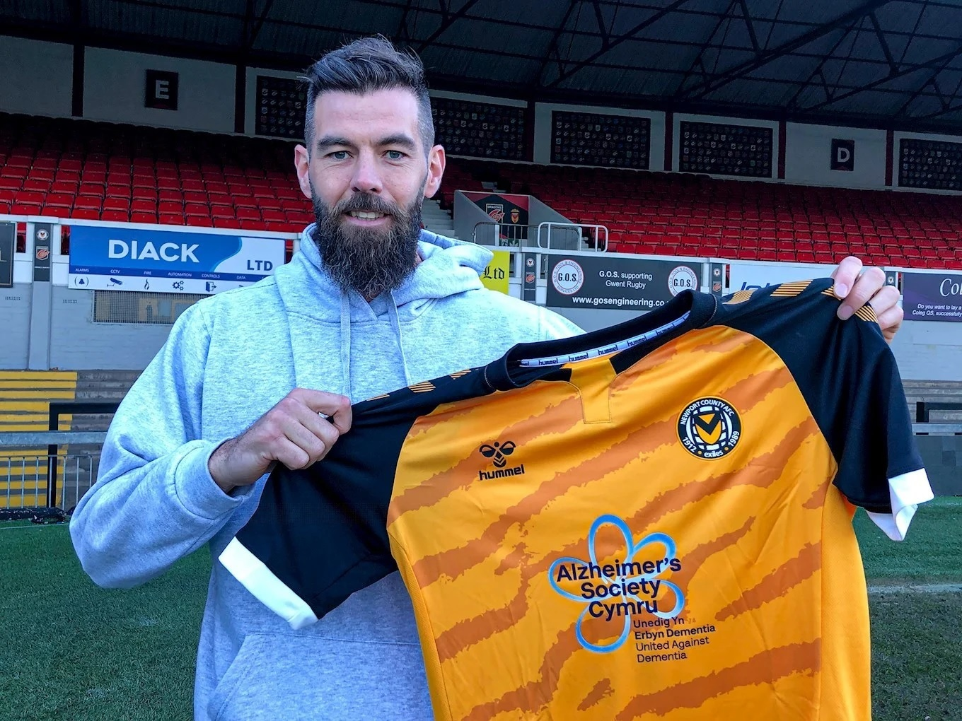 Joe Ledley has signed for Newport County until the end of the season. Picture: Newport County AFC.