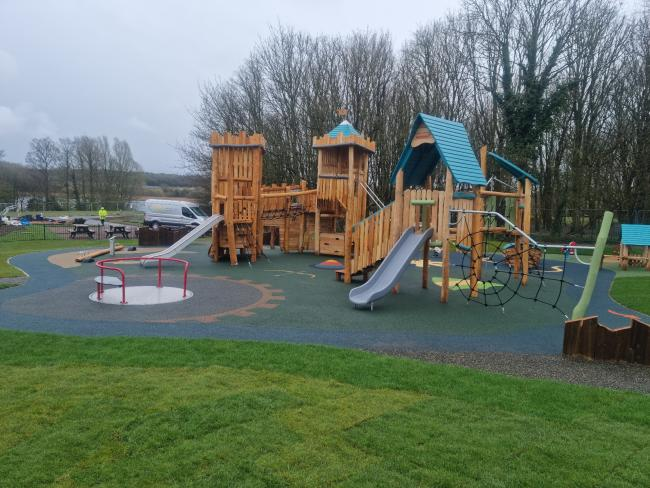 Cosmeston play area. Picture: Vale of Glamorgan council