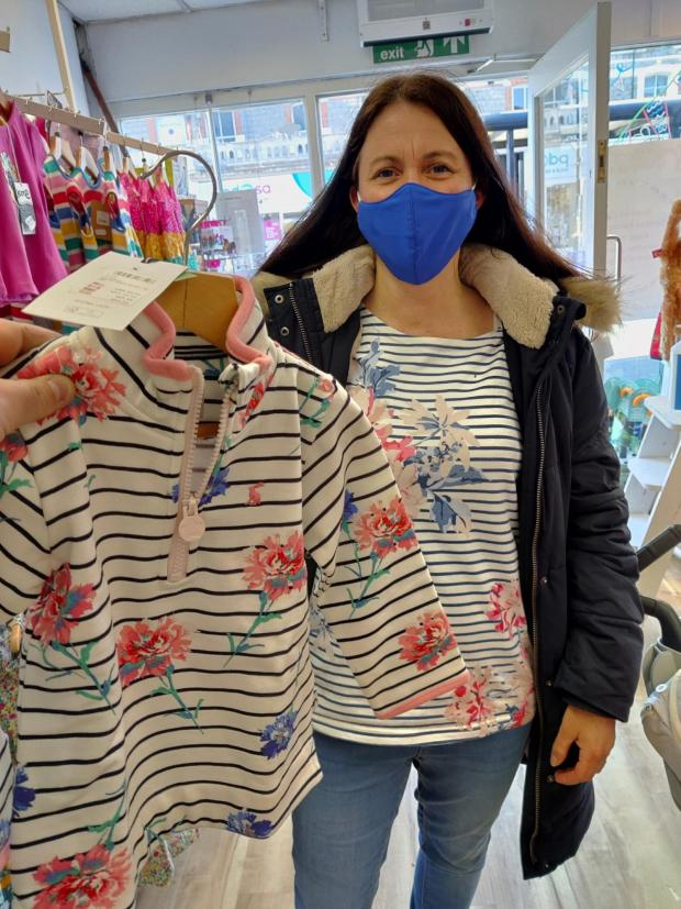 Penarth Times: Very happy customer, Alicia who discovered that they now sell Joules for Kids. She found a Joules zip fleece for her two-year-old that matches her own grown-up Joules fleece