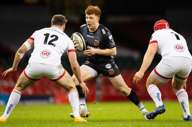 PROSPECT: Aneurin Owen has been a huge hit since bursting into the Dragons side