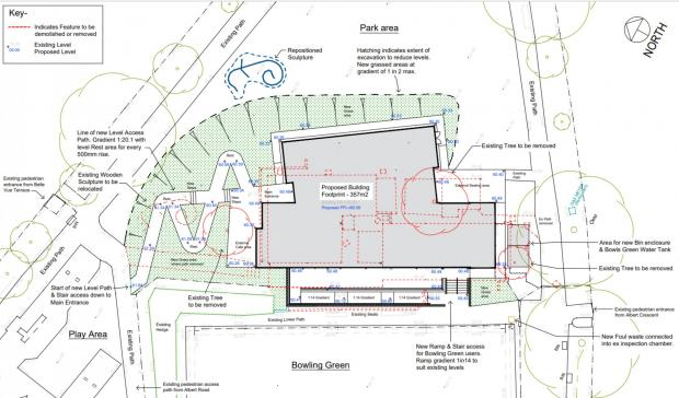 Penarth Times: The proposed site plan