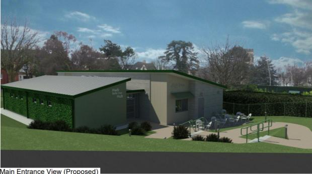 Penarth Times: Proposed design of the main entrance