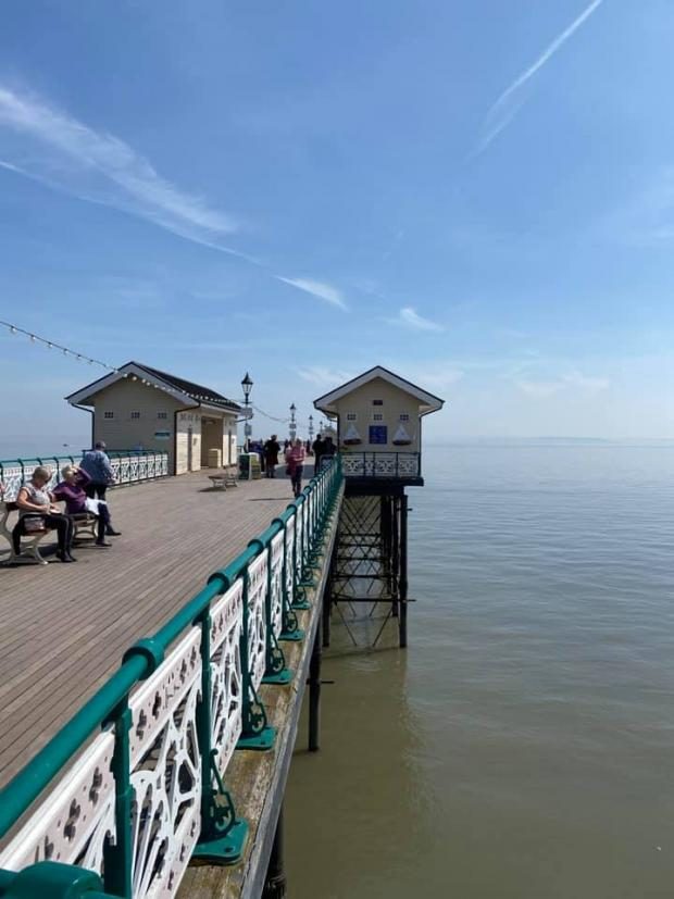 Penarth Times: Penarth Pier, on The Esplanade, in the sunshine by camera club member James Cottnam