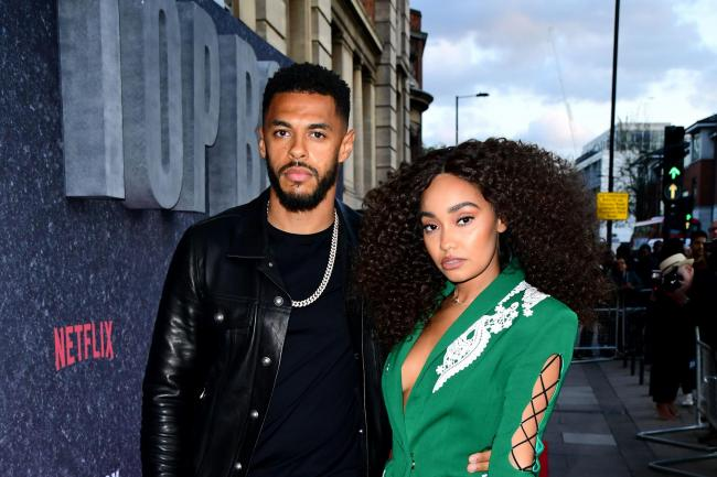 Andre Gray and Leigh-Anne Pinnock
