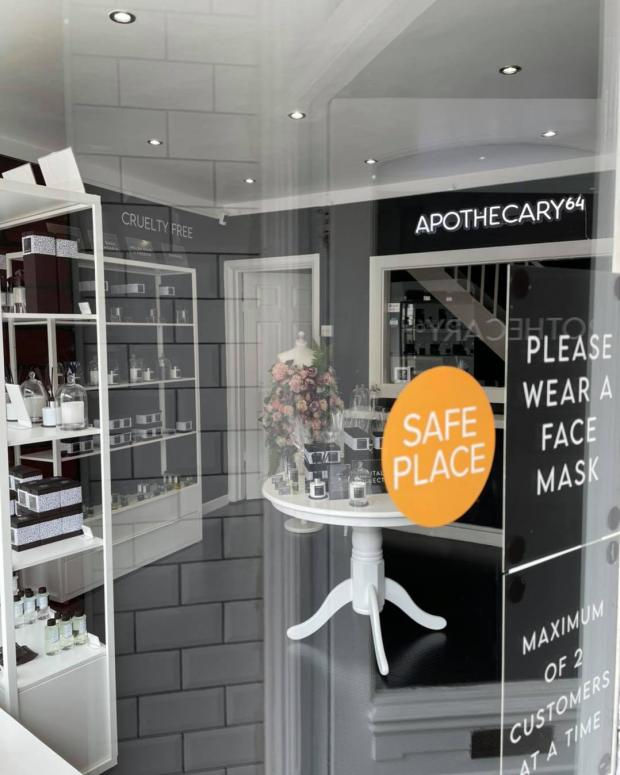 Penarth Times: The 'Safe Place' sticker displayed in the Apothecary64 window