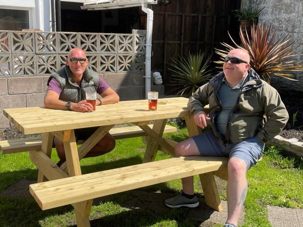Penarth Times: L-R: John Jones and Steve Faulkner