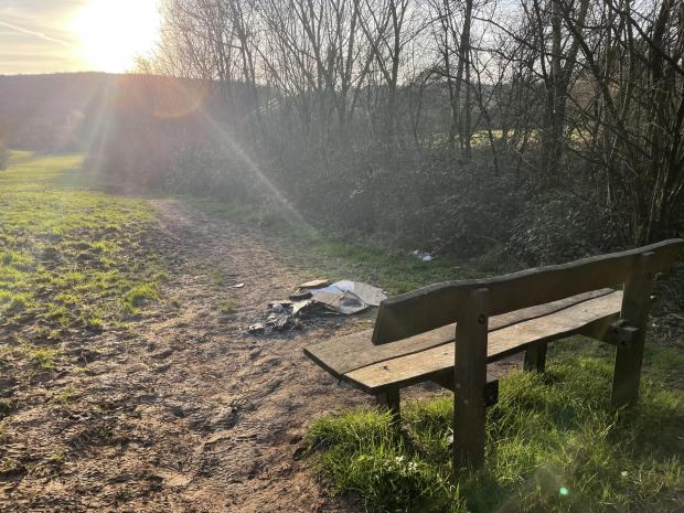 Penarth Times: Flytipping at Cwm George