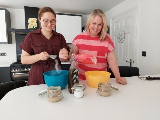 Penarth Times: The duo taking on the challenge with a smile!