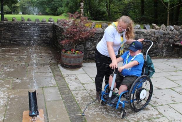 Penarth Times: Seth Burke, wheelchair user, Tŷ Hafan Scout