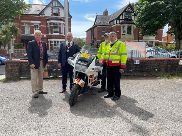 Penarth Times: Blood bikers dropped by