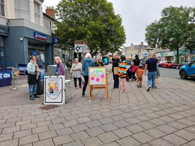 Penarth Times: The group were out on the high street on June 19 asking passers-by for their views