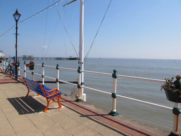 Penarth Times: The bench overlooks Penarth's wonderful seafront - the perfect place for a heartfelt chat